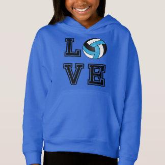 Voleibol del amor - azul cielo, blanco y negro