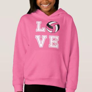 Voleibol del amor - rosado, blanco y negro