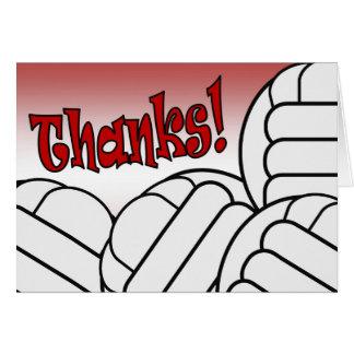 ¡Voleibol - gracias! Tarjeta De Felicitación