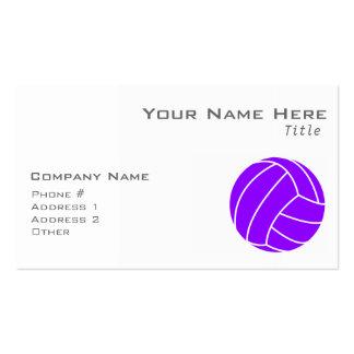 Voleibol púrpura violeta tarjetas de visita
