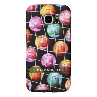 Voleiboles del arte pop de Vball de los chicas Funda Samsung Galaxy S6