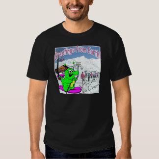 Voltios de esquí del dragón camisetas