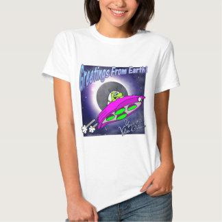 Voltios de saludos del dragón camisetas