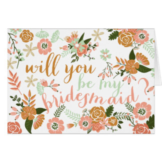Browse the Bridesmaid Cards Collection and personalize by color, design, or style.