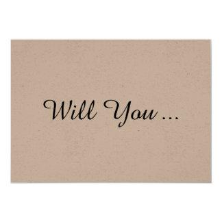 Voluntad rústica usted sea mi tarjeta de la oferta invitación 12,7 x 17,8 cm