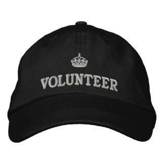 Voluntario con el logotipo de la corona gorras de béisbol bordadas