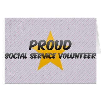 Voluntario orgulloso del servicio social tarjeta de felicitación