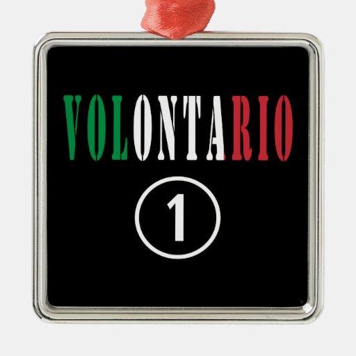 Voluntarios del italiano: Uno de Volontario Numero Ornamento Para Arbol De Navidad