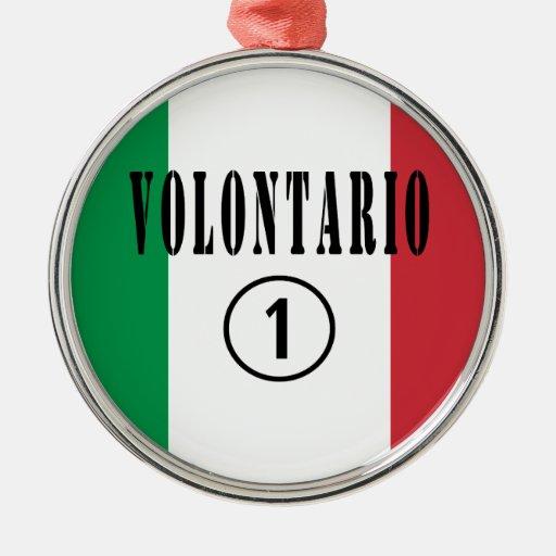 Voluntarios del italiano: Uno de Volontario Numero Adornos