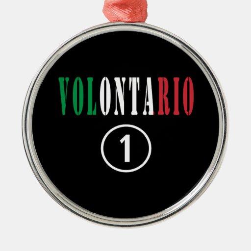 Voluntarios del italiano: Uno de Volontario Numero Adornos De Navidad