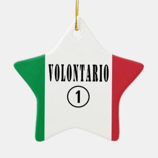 Voluntarios del italiano: Uno de Volontario Numero Adorno De Cerámica En Forma De Estrella