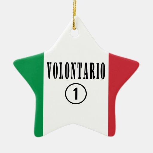 Voluntarios del italiano: Uno de Volontario Numero Adorno De Navidad