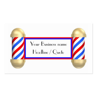 Voluta de la barbería plantillas de tarjetas personales