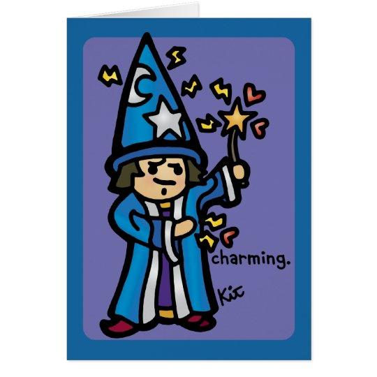 voluta del encanto tarjeta de felicitación