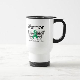 Voluta del guerrero del cáncer de hígado taza de viaje de acero inoxidable