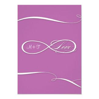Voluta infinita de los bodas del amor de la invitación 12,7 x 17,8 cm