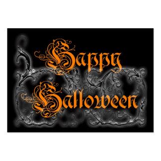 Volutas fantasmales del feliz Halloween Plantilla De Tarjeta De Visita