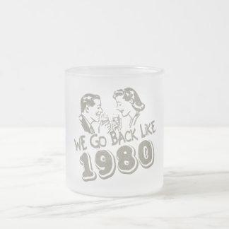 Volvemos como el vidrio esmerilado 1980-Small Taza Cristal Mate