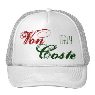 Von, Coste, ITALIA Gorras