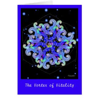 Vórtice de la vitalidad tarjeta