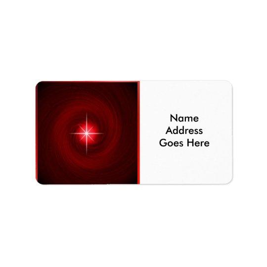 Vórtice rojo con las etiquetas de dirección de la