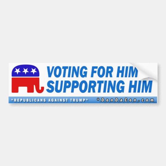 Votación por él pegatina para coche