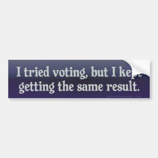 Votación probada, la misma pegatina para el pegatina para coche