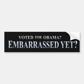 ¿Votado por Obama? ¿Desconcertado todavía? Pegatina Para Coche