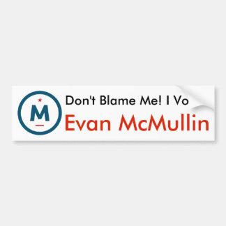 ¡Voté a Evan McMullin! Pegatina para el
