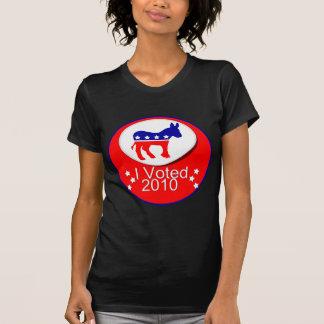 ¡Voté Democratic en 2010! Camisetas