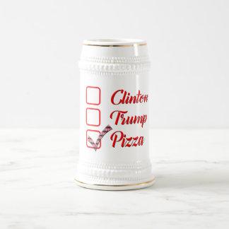 vote la taza de cerveza divertida de la pizza del