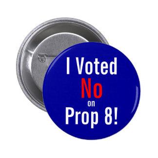 ¡Voté, no, encendido, el apoyo 8! Chapa Redonda 5 Cm