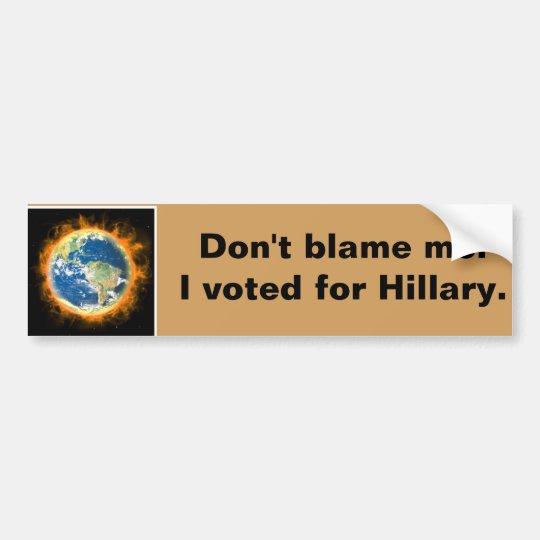 Voté por Hillary. Pegatina Para Coche