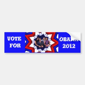 ¡Voto! 2012 Pegatina De Parachoque