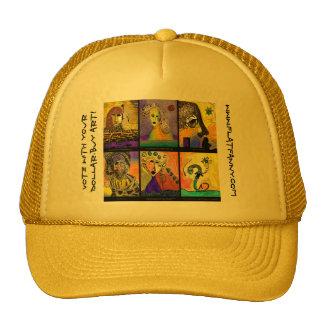 Voto con su arte de la compra del dólar… gorra