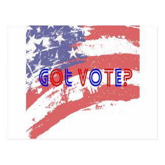 Voto conseguido postal