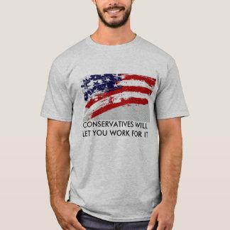 Voto conservador camiseta