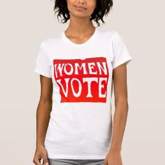 Voto de las mujeres - rojo que rabia camiseta