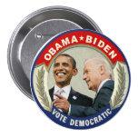 Voto de Obama Biden 2012 Democratic Pin