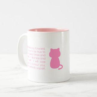 voto del amor del gato - taza del gato