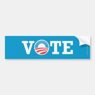 Voto del pegatina de Favorable-Obama Pegatina Para Coche