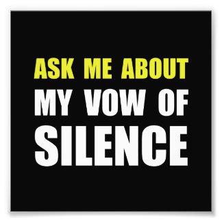 Voto del silencio arte con fotos