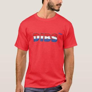 Voto Dibs 2010 elecciones blanco y azul rojos Camiseta