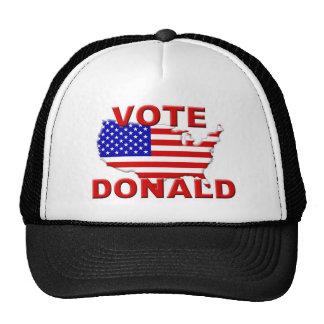 Voto Donald Gorra