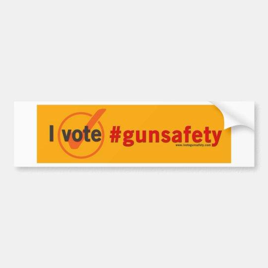 Voto el bumpersticker de la seguridad del arma pegatina para coche