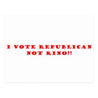 Voto el republicano y no RINO Postal