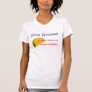 """""""Voto Hillary. ¡Un camión del taco en cada Camiseta"""