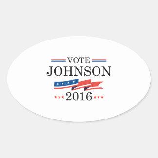 Voto Johnson 2016 Pegatina Ovalada