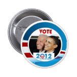Voto Obama/Biden 2012 Chapa Redonda De 5 Cm