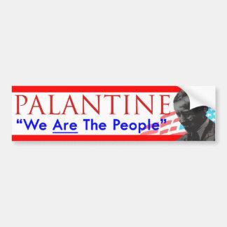 Voto Palantine de la decisión 2012 somos la gente Pegatina Para Coche